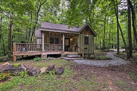 Restful Creekside Retreat by Table Rock State Park