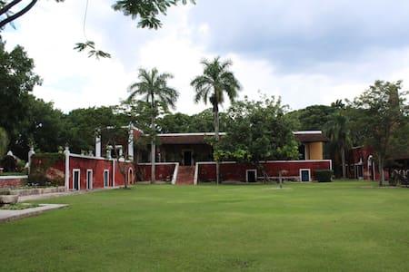 Hacienda Poxilá, cuarto en Jardín - Poxilá - 住宿加早餐