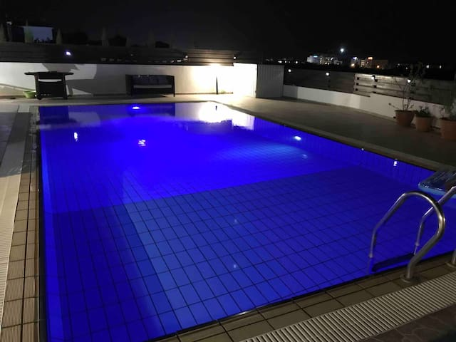 Enjoy a cool swim at night before exploring the nightlife of Napa just a few minutes away.