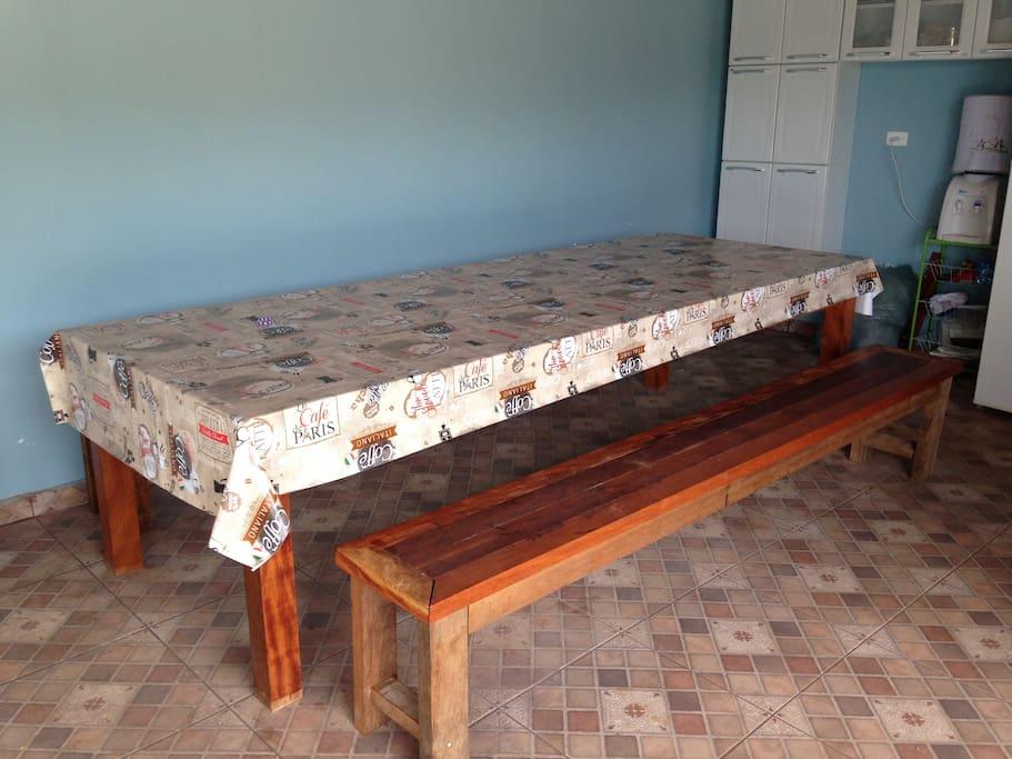 Mesa de madeira 3m