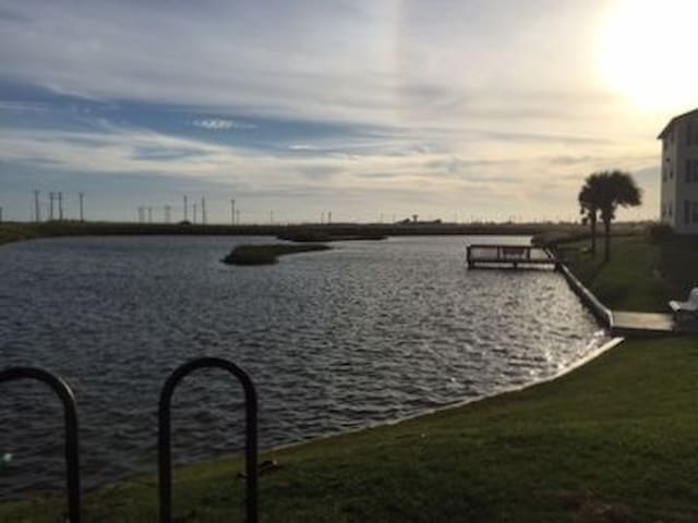 Fishing Pond at sundown