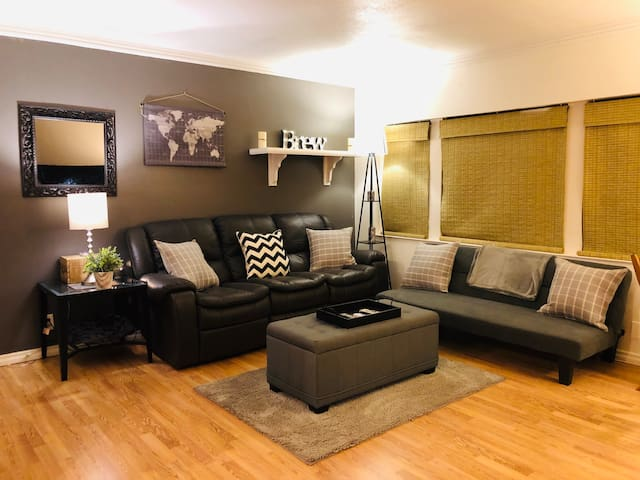 Private bedroom, bathroom, living room, & kitchen!
