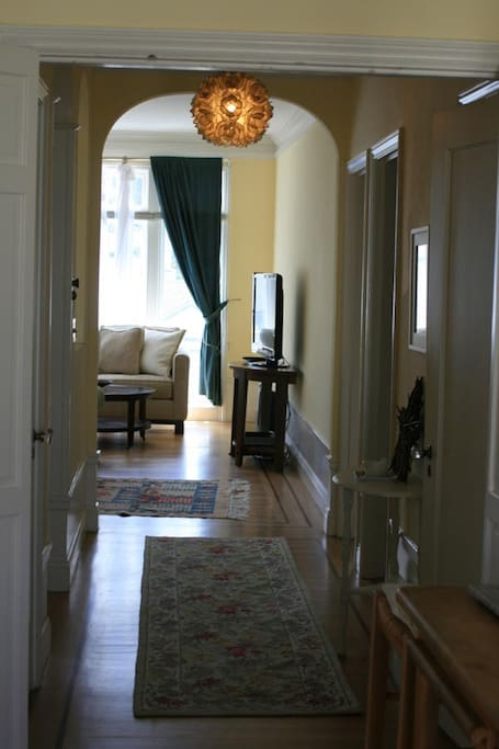 Entrance hall with lovely architectural details