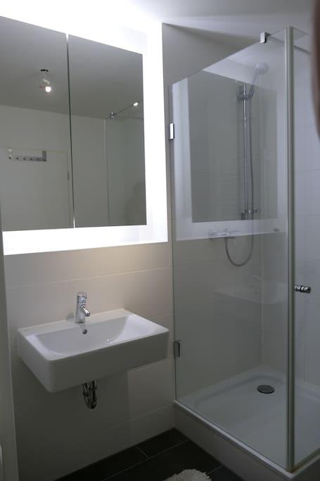 Badezimmer nmit Dusche