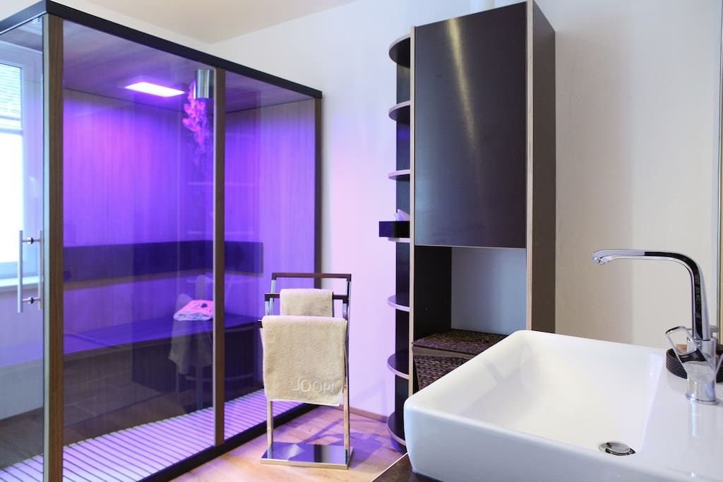 bathroom with infrared sauna