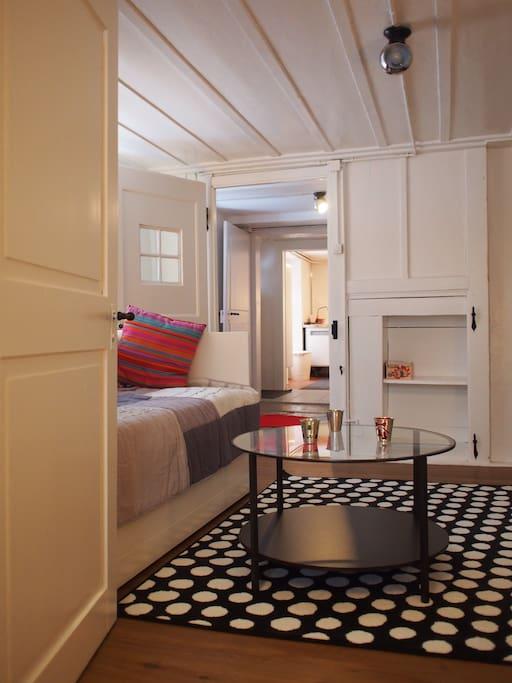 Living (1 canapé-lit avec 2 matelas)