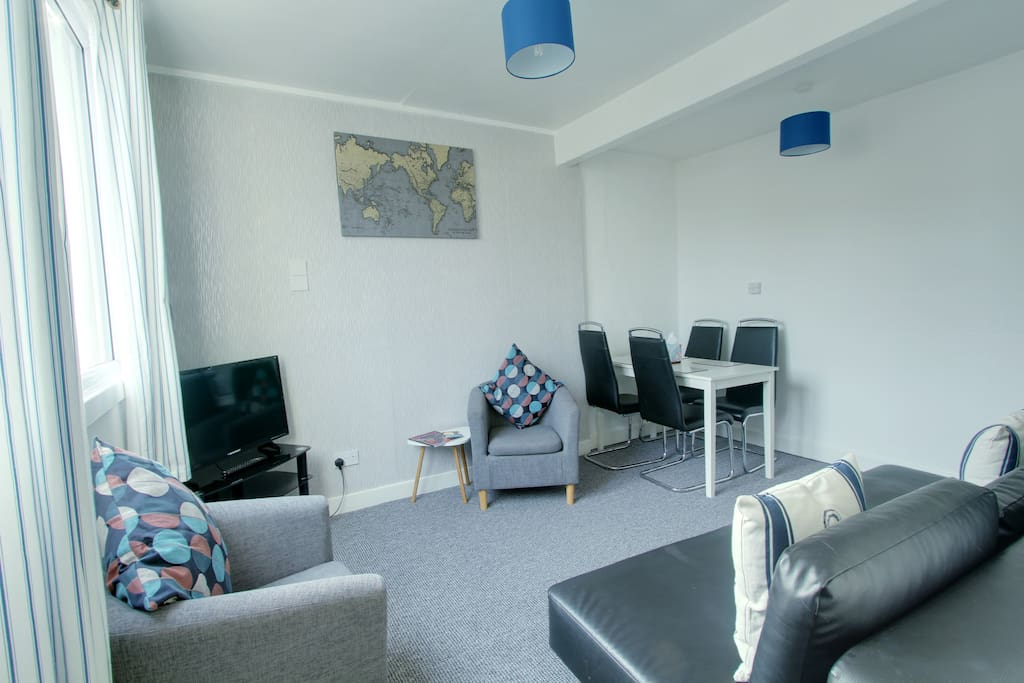 Reads Court, Blackpool. Living / Dining / 2nd sleeping area - Galleon Apartment