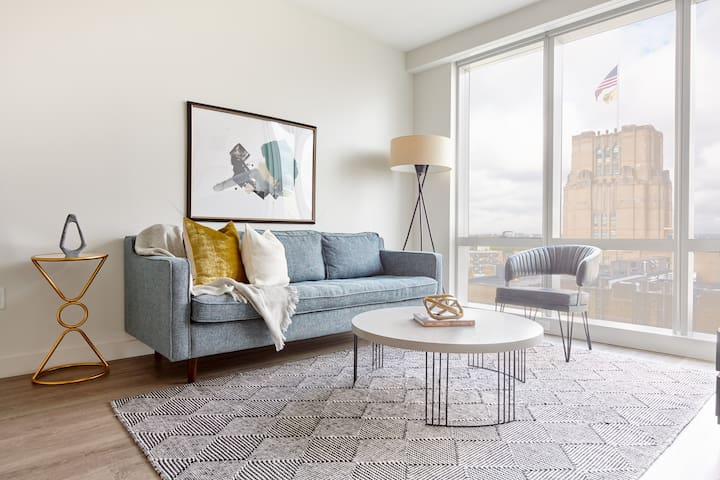 Sonder | Pierce Boston | Calming 1BR + Game Room