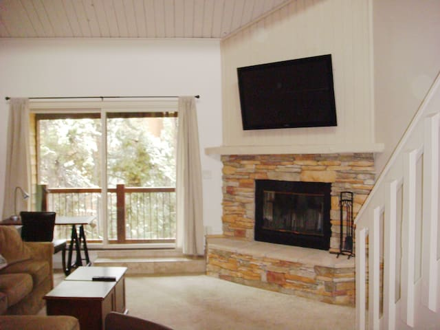 Well-sized living room with plenty of space for family & friends, plus sleeper sofa