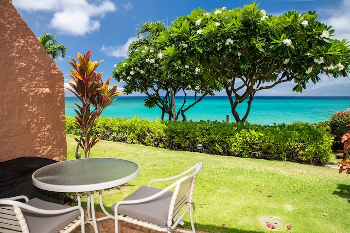 KUL401 - W Maui Beach Front, Gorgeous Ground-Floor Condo in Quiet Resort—1 BR