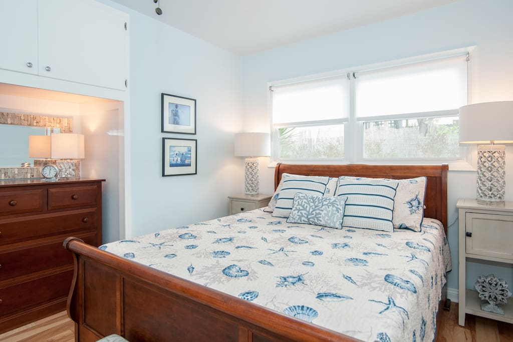 The master bedroom is cozy, super-comfy and perfect for lounging and snuggling.