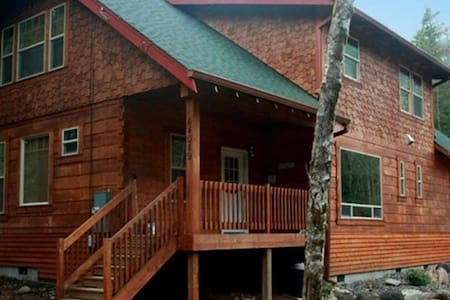 Gorgeous Mt Hood Log Home on river - Mount Hood Village - Cabana