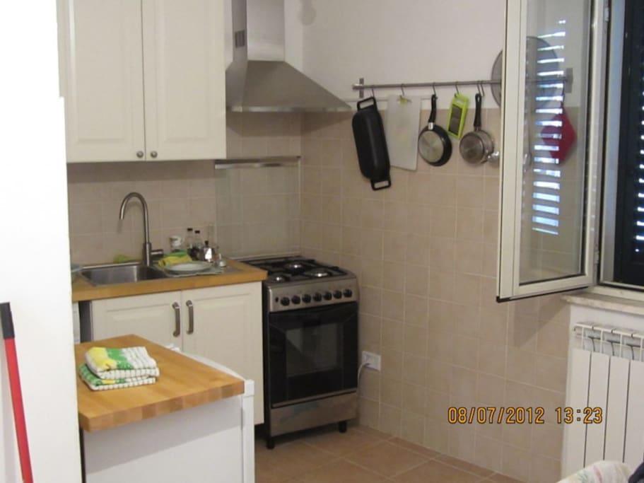 New kitchen with washing machine