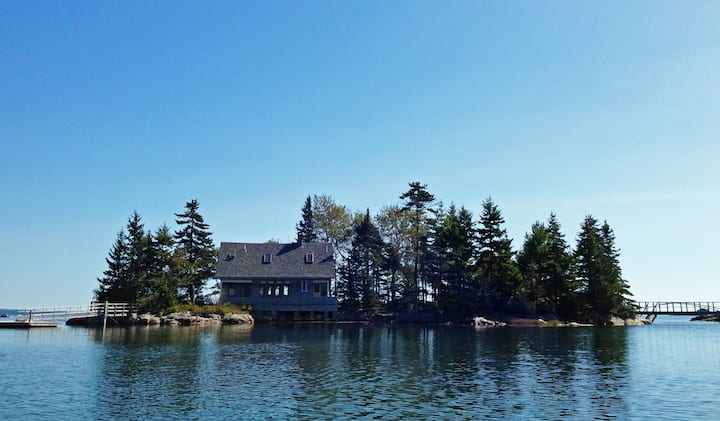Unique Penobscot Bay Island Cottage