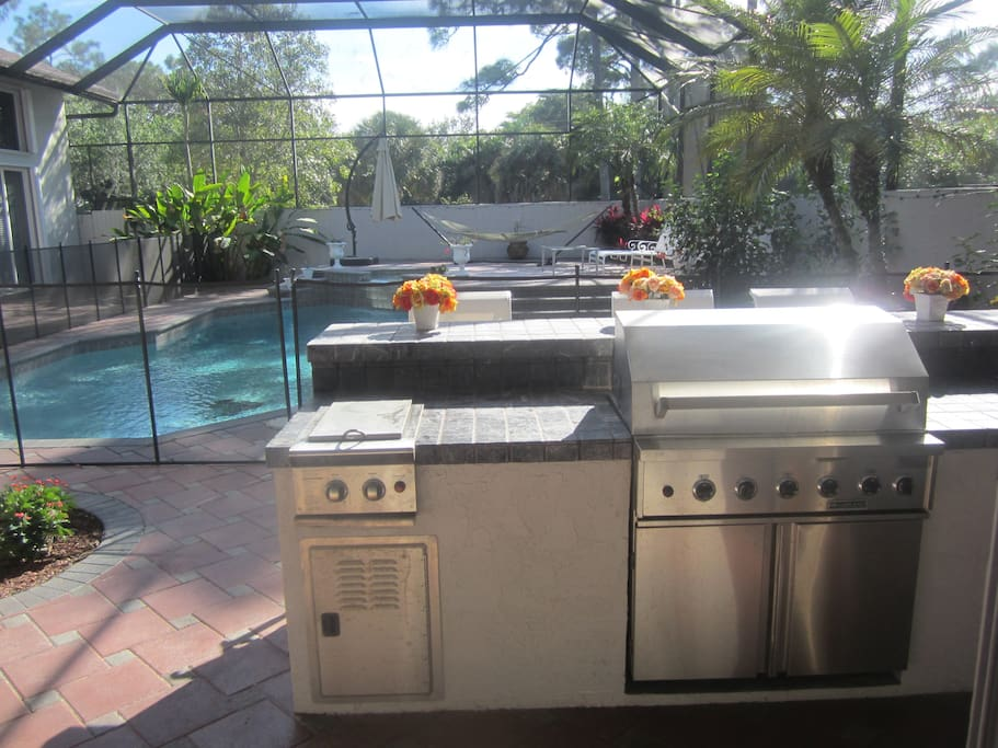 Outdoor Kitchen - Grill & Gas Stove