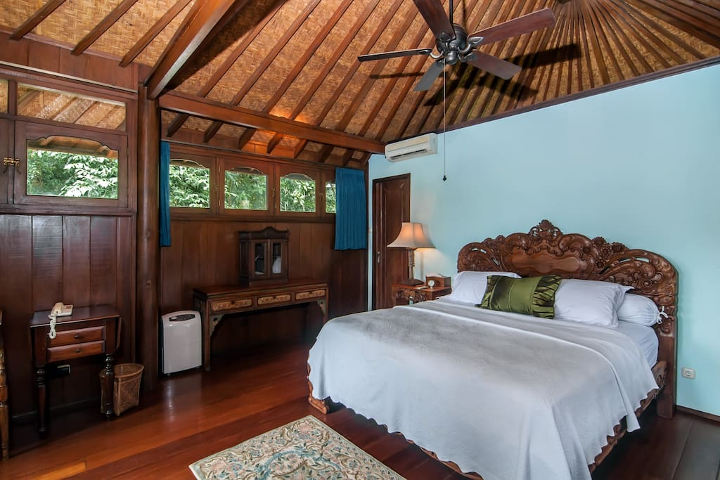 The master bedroom on the second floor