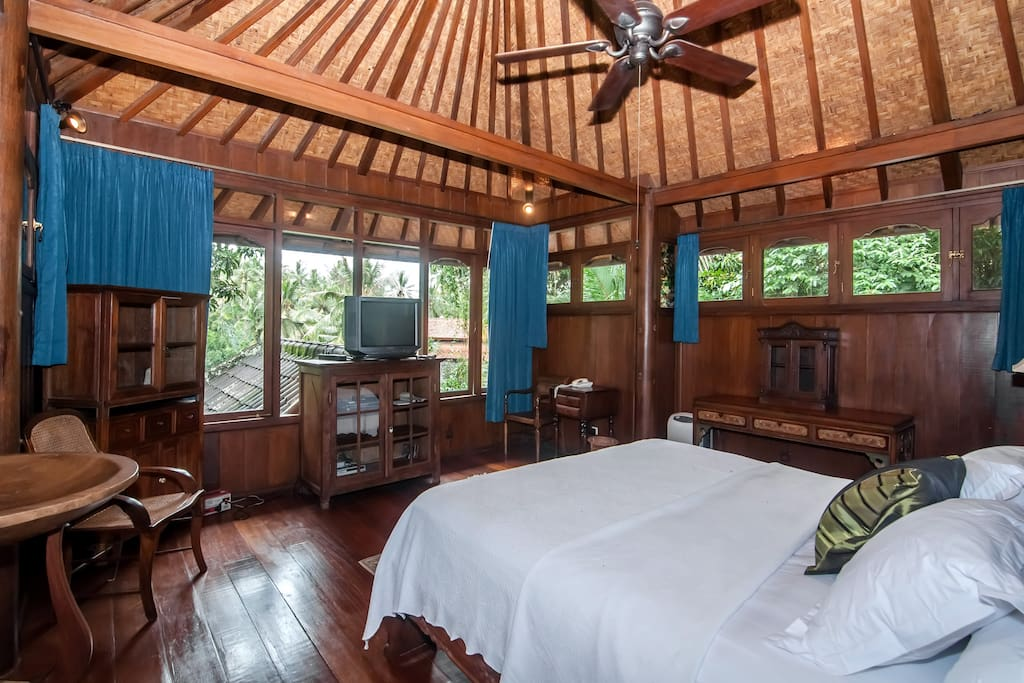 The master bedroom with beautiful views
