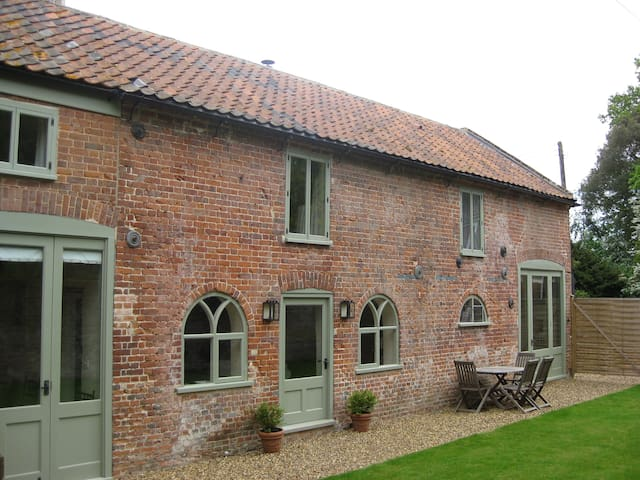 Detached with a sunny south facing walled garden
