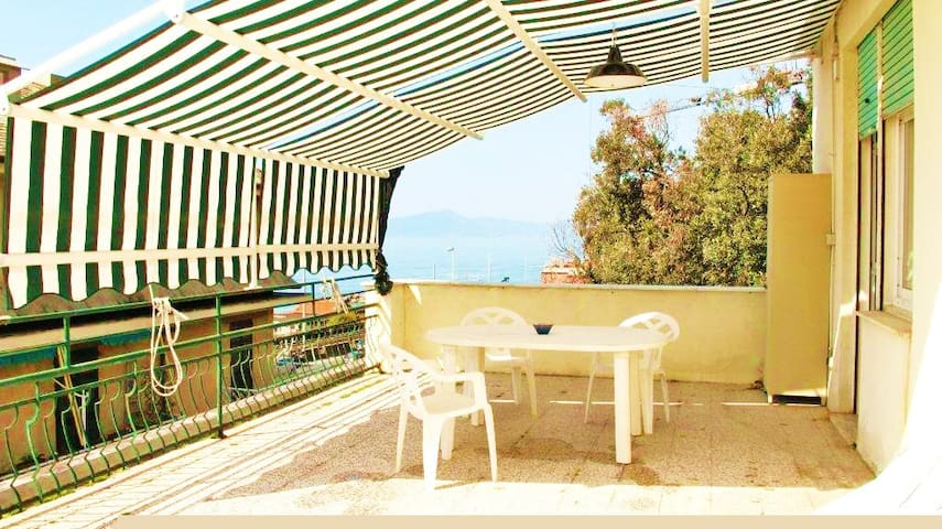 attic with wonderful large terrace - Lavagna - Apartment