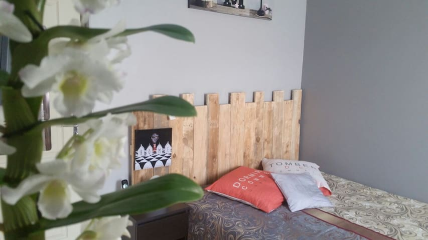 2 nice rooms for families with children - La Trinité - Huis