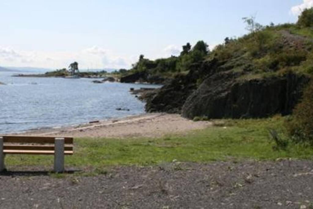 Rolfstangen beach 100 metres away