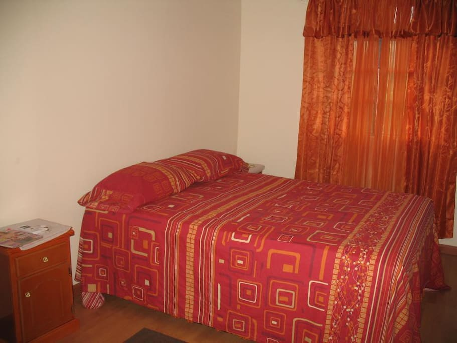 Bouganvillea room has 2 double beds and is airconditioned
