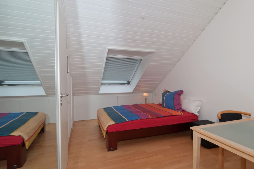 The room offers a lot of space, a tidy and modern ambience and a very neat bathroom.