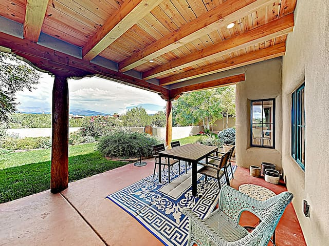 Take in views of the mountains from the back porch.