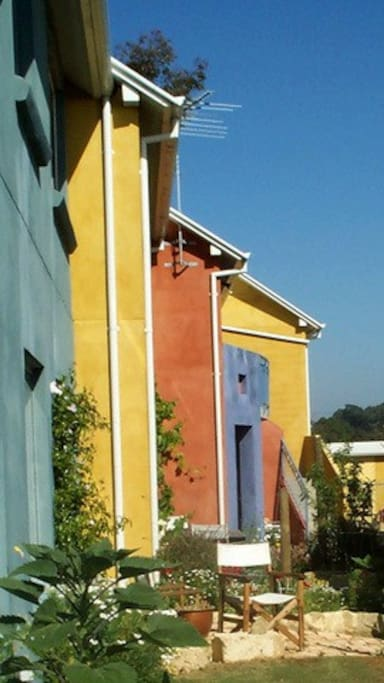 Colourful townhouses