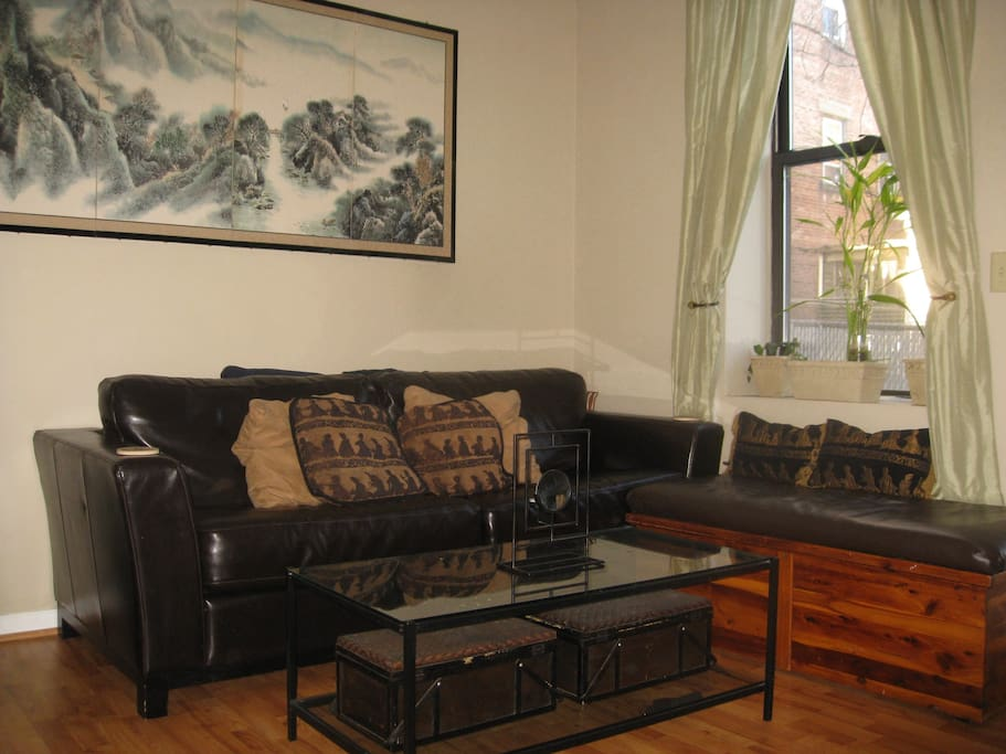 Living room, seating area with pullout sofa