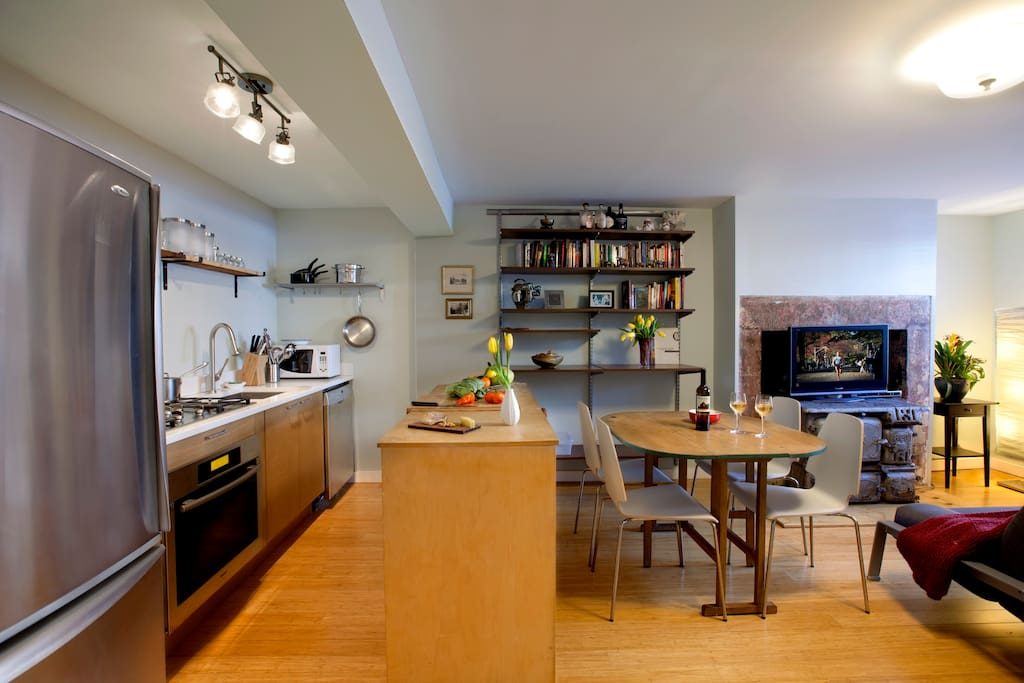 Open Kitchen Concept.