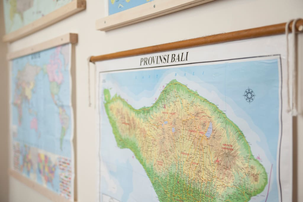 Our beloved map wall.