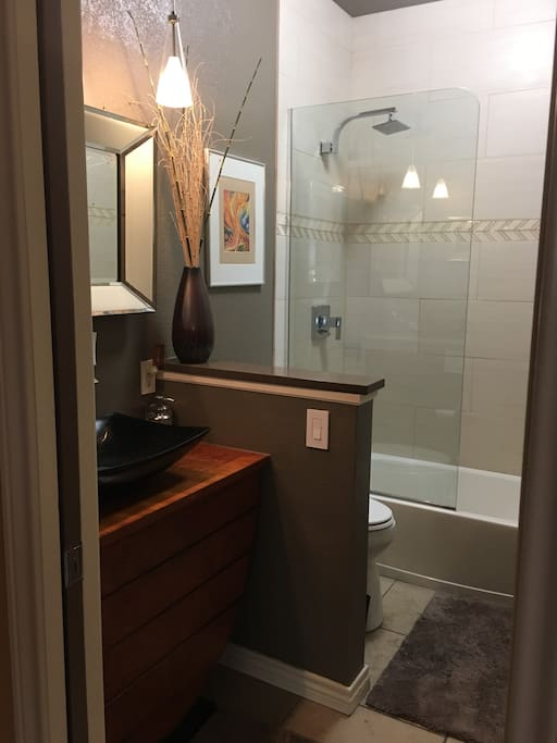 Private newly remodeled bathroom