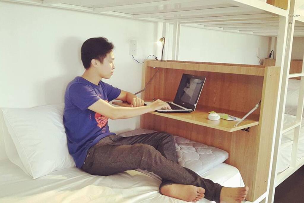 multi-functioned locker, comfortable bed