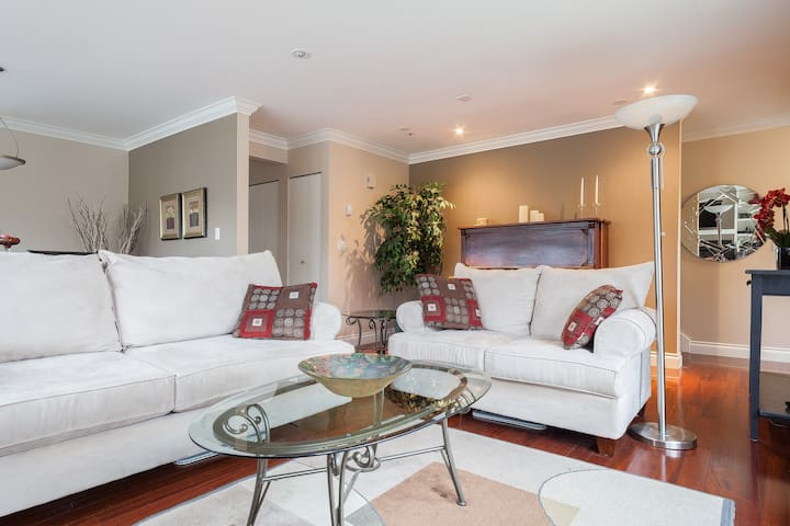 Relax in the spacious, comfortable living room