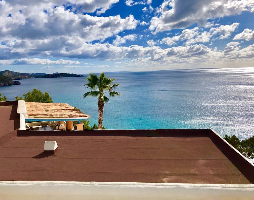 This is the view you have when you are on your private balcony.