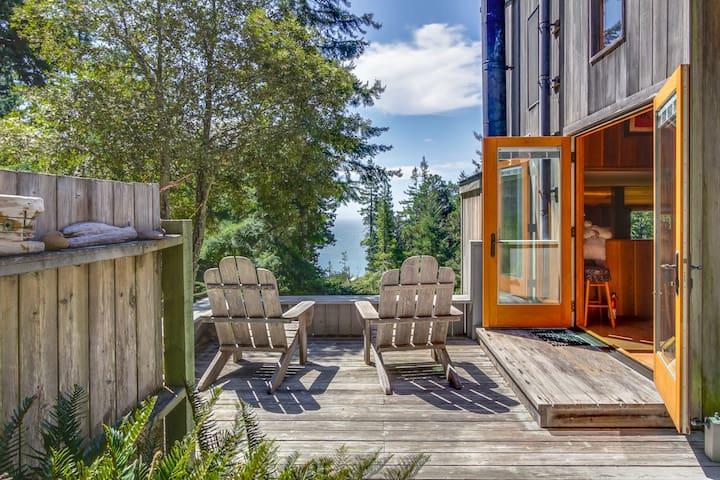 Peaceful hillside home w/ ocean views,  private hot tub, & shared pool!