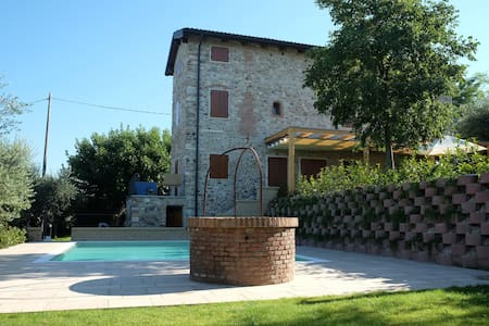 Garden, pool and great lake view. Ground fl. north - Lazise