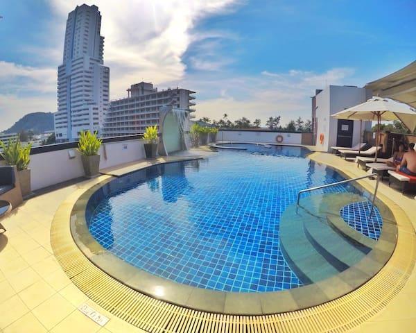超舒适高级双房公寓   2分钟行走到达芭东海滩