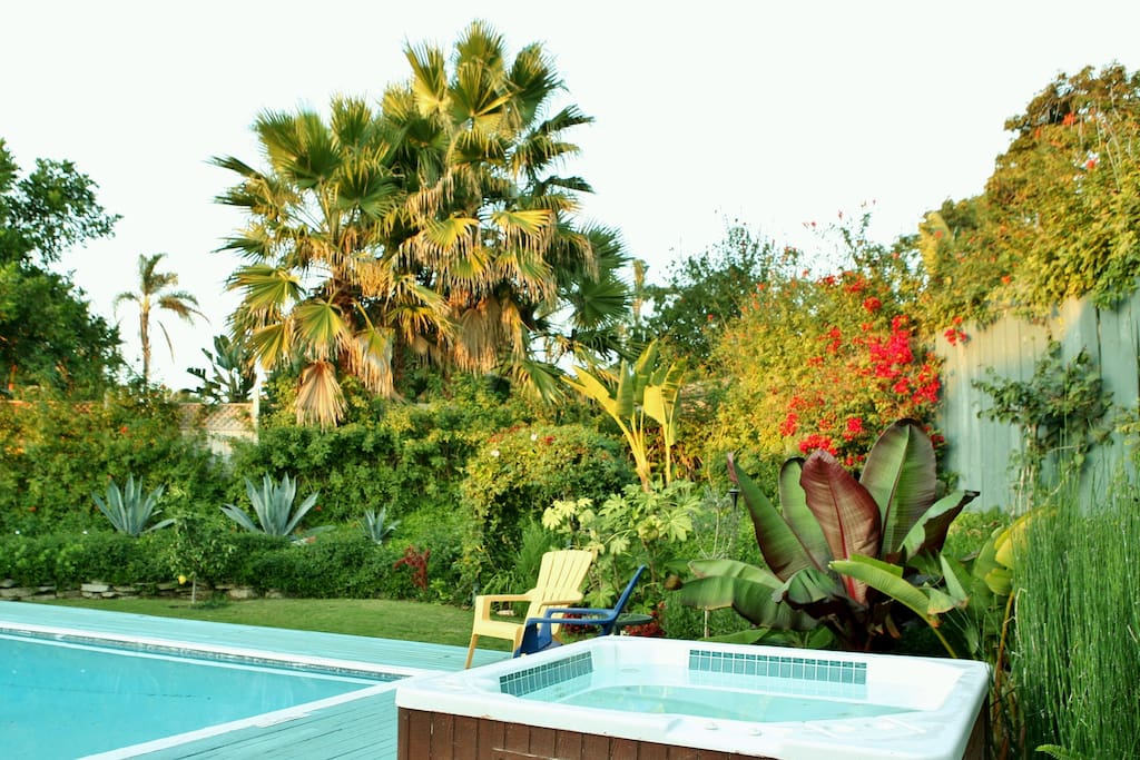 Enjoy the Private Heated Pool/Spa & Colorful Tropical Yard