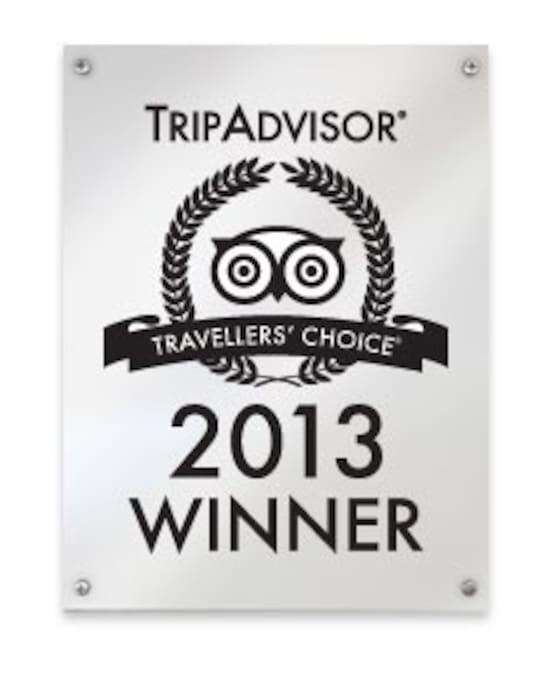 2013 Trip Advisor Traveler's choice award