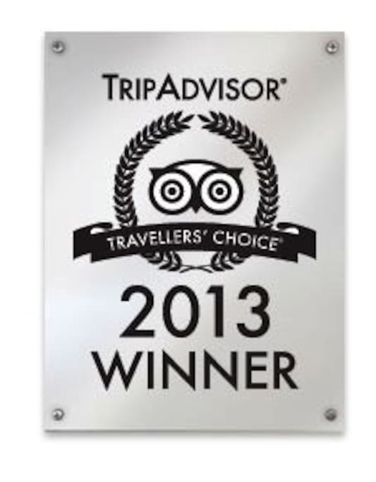Trip advisor's 2013 Traveler's choice award