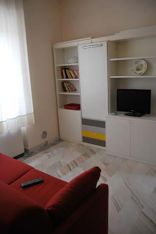 Living room, flat screen tv.