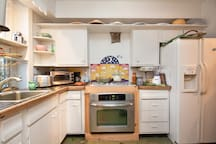 Ask about kitchen priveleges -- we've plenty of dishes and cookware.