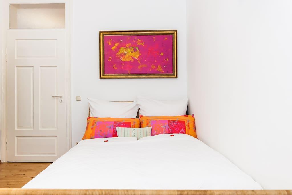 Zimmer mit Doppelbett (1,40x 2 m)
