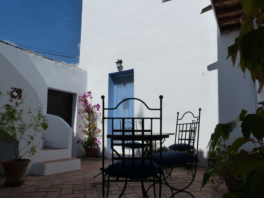 Andalucian blue and white touches.