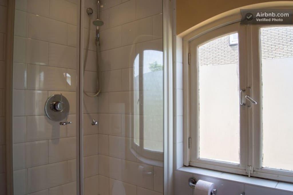 The shared bathroom.
