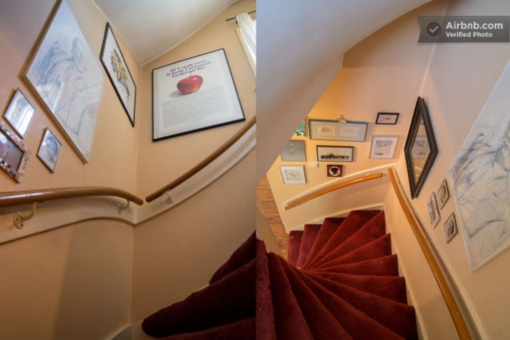 Staircase to the first floor.