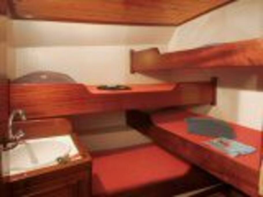 The comfortable cabins