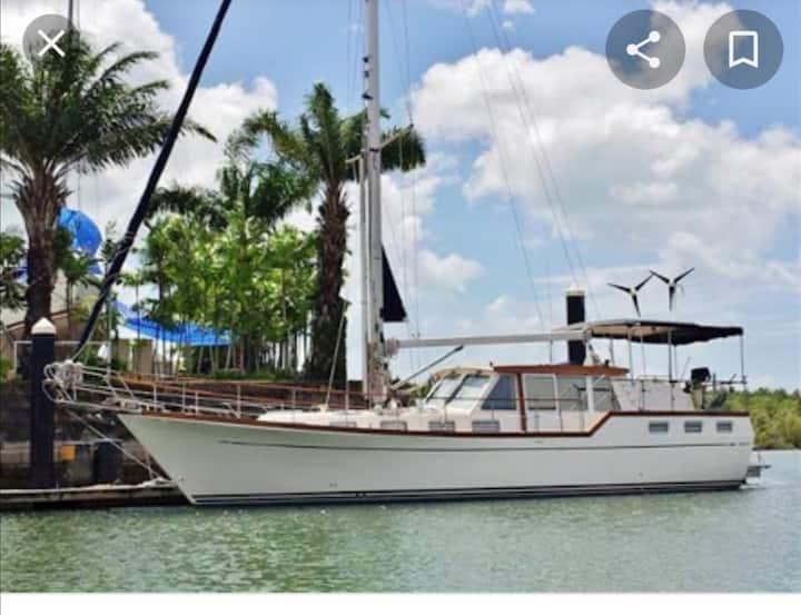 Nauticat brand 14mt  private sailing yacht